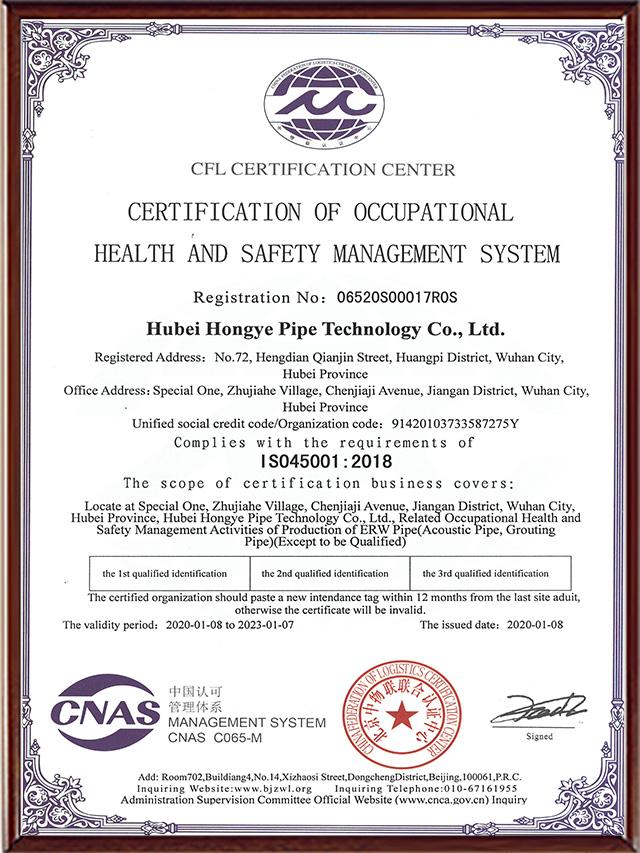 ISO-45001职业健康安全体系认证(英文)